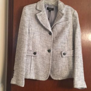 New tweed (Gray/white/silver) jacket.